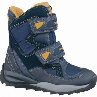 Geox J Orizont Jungen Winter Leder Amphibiox Boots navy, molliges Warmfutter, warmes Fußbett, 3737134/36