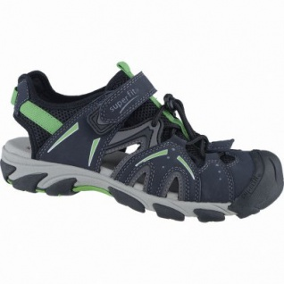 Superfit sportliche Jungen Synthetik Sandalen ocean, Superfit Leder Fußbett, mittlere Weite, 3538123