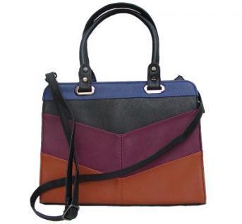 Angel kiss AK5990 multicolor modische Tasche Kelly Bag Style, Shopper, 3 Hauptfächer, langer Trageriemen, 34x27x13 cm