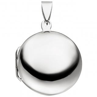 Medaillon rund zum Öffnen für 2 Fotos 925 Sterling Silber - Vorschau 2