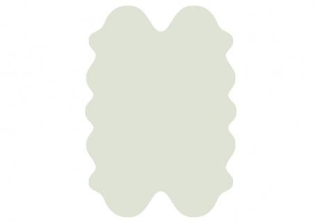 exklusive Lammfell Fellteppiche weiß gefärbt, 4 Einzelfelle, waschbar, Haarlä...
