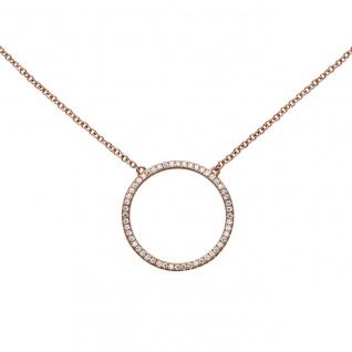 Collier Halskette 925 Silber rotgold vergoldet mit Zirkonia 45 cm Kette - Vorschau 4