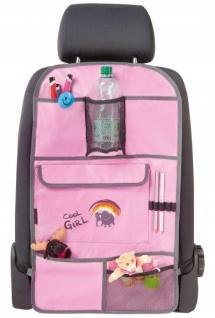 Polyester Kinder Auto Rücksitz Organizer mit Taschen rosa, PKW Rückenlehnen Schutz, 69x40 cm, Auto Tasche - Vorschau