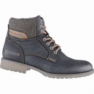 TOM TAILOR sportliche Herren Leder Imitat Winter Boots black, Warmfutter, 2539171