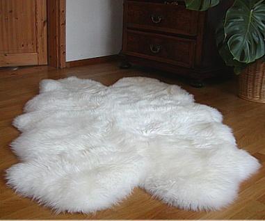 Lammfellteppiche weiß, ca. 1, 30 m lang, 90-100 cm breit, ökologische Gerbung ...