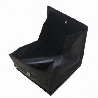 kleine Lederbörse Wiener Schachtel schwarz, 1 großes Kleingeldfach, 2 Scheinfächer, 4xCC, ca. 9x10 cm