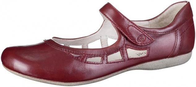 JOSEF SEIBEL Fiona 55 Damen Leder Sommer Halbschuhe rubin, softes Leder Fußbett