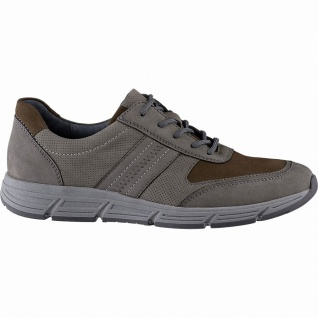 Waldläufer Haslo 12 Herren Leder Sneakers pietra, Extra Weite H, herausnehmba...