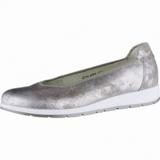 Waldläufer Hara 15 Damen Metallic Leder Ballerinas rose, herausnehmbares Leder Fußbett, Extra Weite H, 1140115/5.5