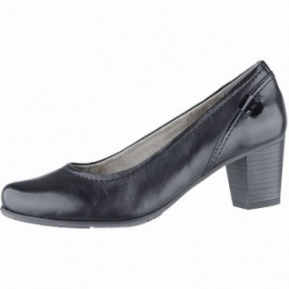 Jana komfortable Damen Leder Pumps Grey, Comfort Fußbett