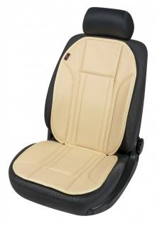 Ravenna Universal Kunstleder Auto Sitzauflage beige waschbar, PKW Sitzauflege...
