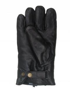 Damen Ziegenleder Fingerhandschuhe mit Lammfell schwarz, Größe 8 - Vorschau 2
