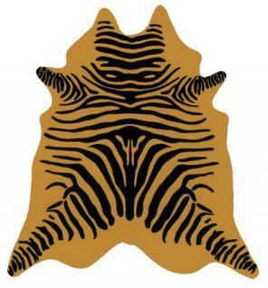große südamerikanische Rinderfelle, Kuhfelle, beige bedruckt mit Zebra-Zeichnung, seidig glänzendes Fell, ca. 3 m²