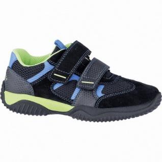 Superfit sportliche Jungen Leder Sneakers schwarz, mittlere Weite, anatomisches Fußbett, 3342116/27