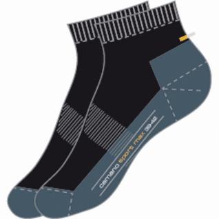 Camano Sport Quarter Sport NOS schwarz, 2er Pack Damen, Herren Socken