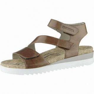Romika Hollywood 04 trendige Damen Leder Sandalen castagne, echtes Kork Fußbett, Weite G, 1540123