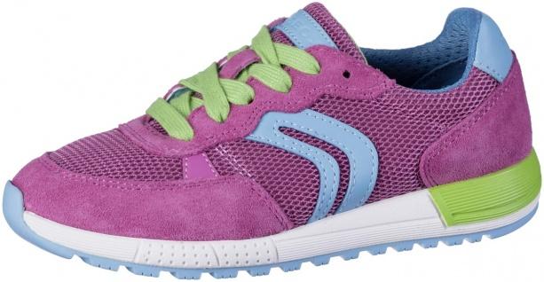 GEOX Mädchen Leder Sneakers fuchsia, atmungsaktive Geox Laufsohle