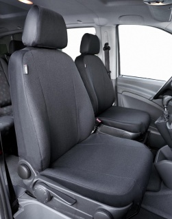 Passform Sitzbezüge Mercedes Viano W639, passgenauer Stoff Sitzbezug 2 Einzel...