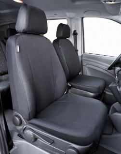 Passform Sitzbezüge Mercedes Vito W639, passgenauer Stoff Sitzbezug 2 Einzels...