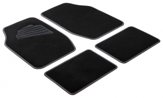 Komplett Set Universal Auto Fußraum Matten Matrix grau 4-teilig, Anti Slip, r...