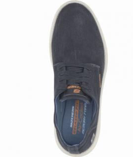 Skechers Status Borges coole Herren Washed Canvas Sneakers black, Air-Cooled-Memory-Foam-Fußbett, 4238186/40 - Vorschau 2