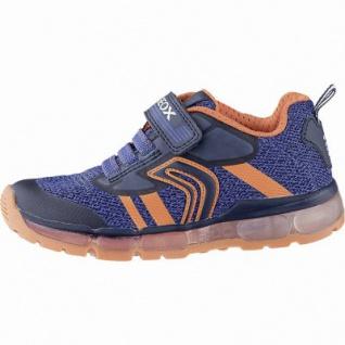 Geox coole Jungen Synthetik Sneakers navy, Antishock, herausnehmbares Leder Fußbett, 3342131/25