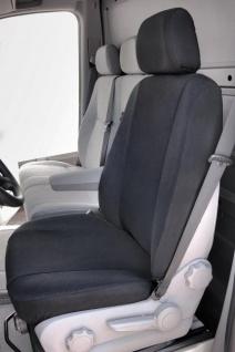 Universal Polyester Transporter Reißverschluss Sitzbezug Lowback anthrazit waschbar, auch Seitenairbags, Sitzbezug+Kopfstütze