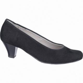 Jenny Auckland klassische Damen Synthetik Pumps schwarz, Leder Fußbett, Comfort Weite G, 1142110/36