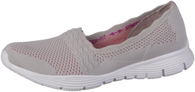 SKECHERS Seager Damen Slippers taupe, Strickmaterial, Air Cooled Memory Foam ...