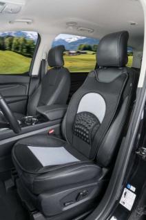 weiche Universal Baumwoll Auto Sitzauflage Roll out schwarz alle PKW, 3 mm Schaumstoff Kaschierung, waschbar, PKW Sitzschoner - Vorschau 2