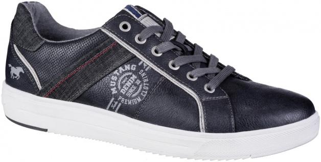 MUSTANG Herren Leder Imitat Sneakers navy, Textilfutter, Mustang Decksohle