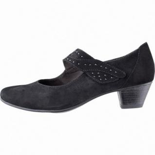 Jana modische Damen Leder Pumps black, Klettverschluss, weiches Leder Fußbett, Soft Flex System, Extra Weite H, 1142114/4.0