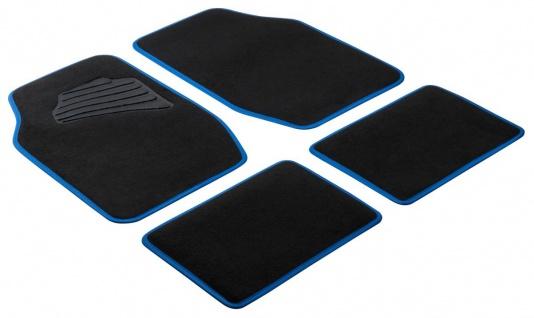 Komplett Set Universal Auto Fußraum Matten Matrix blau 4-teilig, Anti Slip, r...