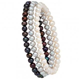Perlenarmbänder 3er Set Süßwasser Perlen Armband Armbänder endlos