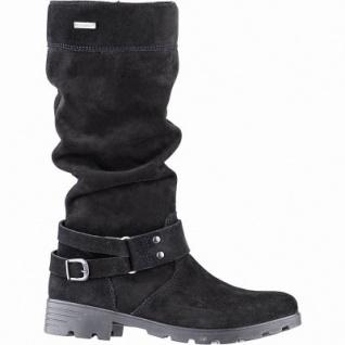 Ricosta Riana Mädchen Winter Leder Tex Stiefel schwarz, mittlere Weite, 27 cm Schaft, Warmfutter, warmes Fußbett, 3741261/35