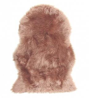 Lammfell Teppich Kunstfell camel, Schaffell Imitat, 100% Acryl, ca. 90x60 cm,...