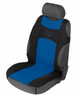 sportliche Universal Polyester PKW Auto Sitzauflage Tuning Star blau, 120x60 cm, weich gepolstert, waschbar, PKW Sitzaufleger