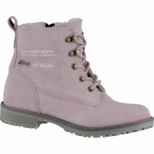 s.Oliver coole Mädchen Leder Winter Tex Boots rosa, Warmfutter, warmes Fußbett, 3739223/37