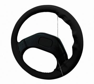 Universal echt Leder Lenkradbezug schwarz zur Selbstmontage, 37-39 cm Durchmesser Lenkrad, 9, 5 - 10, 6 cm Griffumfang