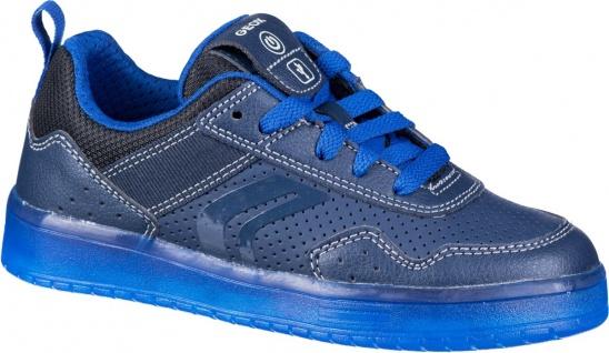 GEOX Jungen Synthetik Sneakers navy, atmungsaktive Geox Laufsohle