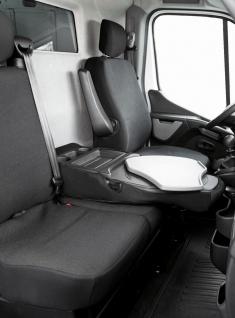 Passform Sitzbezüge Transporter Renault Master, passgenauer Stoff Sitzbezug E...