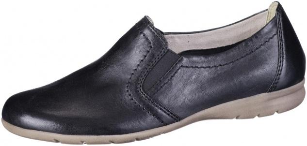 JANA Damen Leder Slippers black, Extra Weite H, Jana Comfort Leder Fußbett