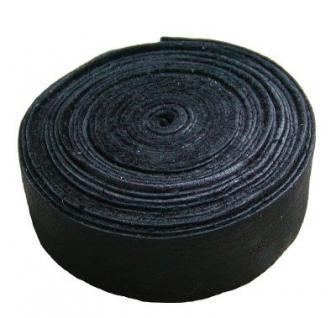 Lederband Einfassband Rindleder schwarz, vegetabil gegerbtes Leder, Länge 10 m, Breite 20 mm, Stärke ca. 0, 9 / 1, 1 mm