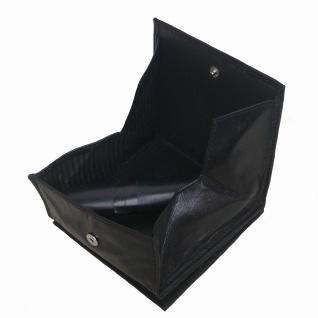 kleine Lederbörse Wiener Schachtel schwarz, 1 großes Kleingeldfach, 2 Scheinf...