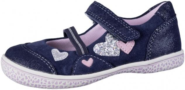 LURCHI Taeko Mädchen Leder Ballerinas navy, mittlere Weite, Lurchi Leder Fußbett