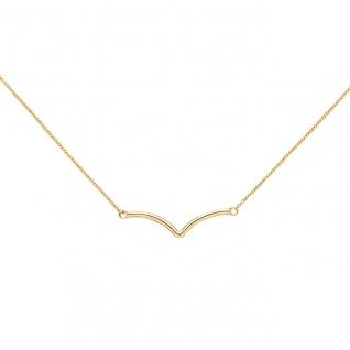 Collier Halskette 585 Gold Gelbgold 45 cm