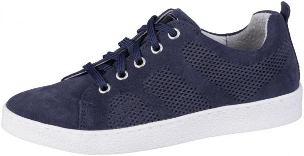 RICHTER Mädchen Leder Sneakers atlantic, mittlere Weite, Leder Fußbett