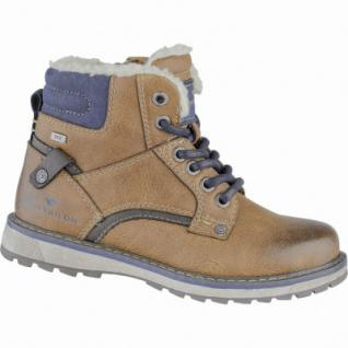 TOM TAILOR coole Jungen Synthetik Winter Boots camel, molliges Warmfutter, weiche Laufsohle, 3739214/37