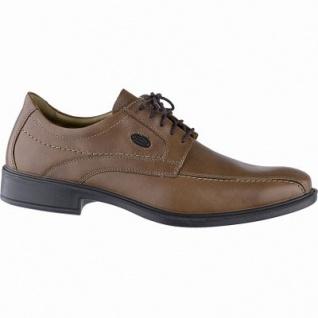Jomos komfortable Herren Business Leder Halbschuhe cognac, Lederfutter, herausnehmbares Fußbett, Luftpolstersohle, 2141141/41