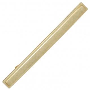 Krawattenschieber 333 Gold Gelbgold eismatt